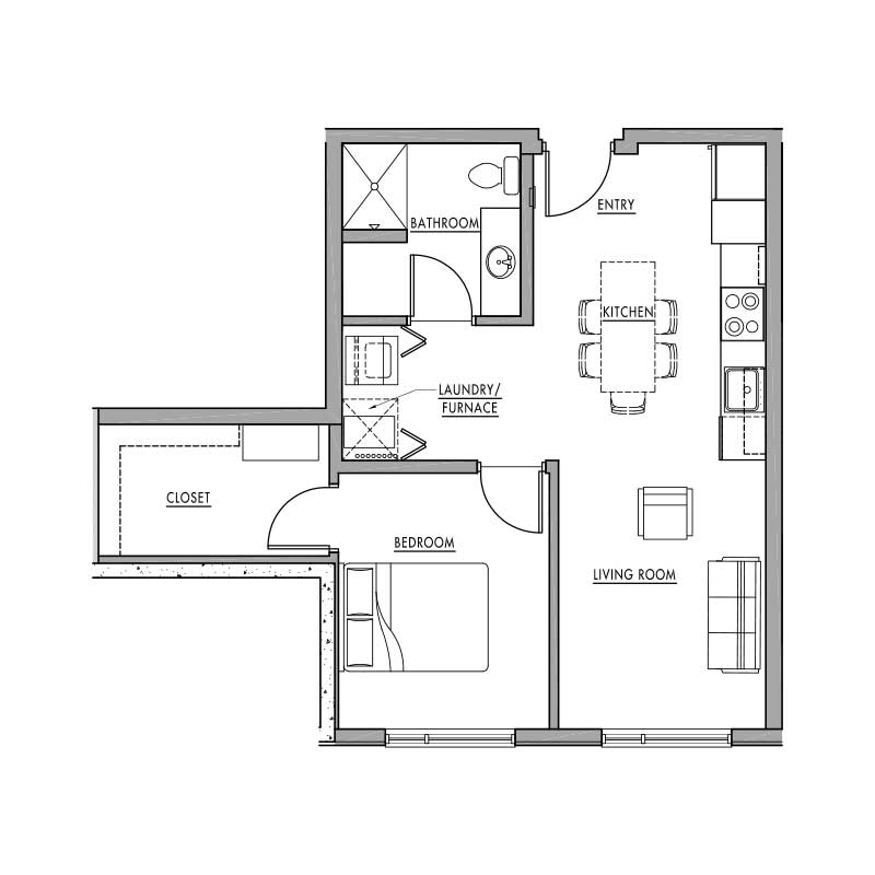 Floor plan c dwell bay for Dwell floor plans