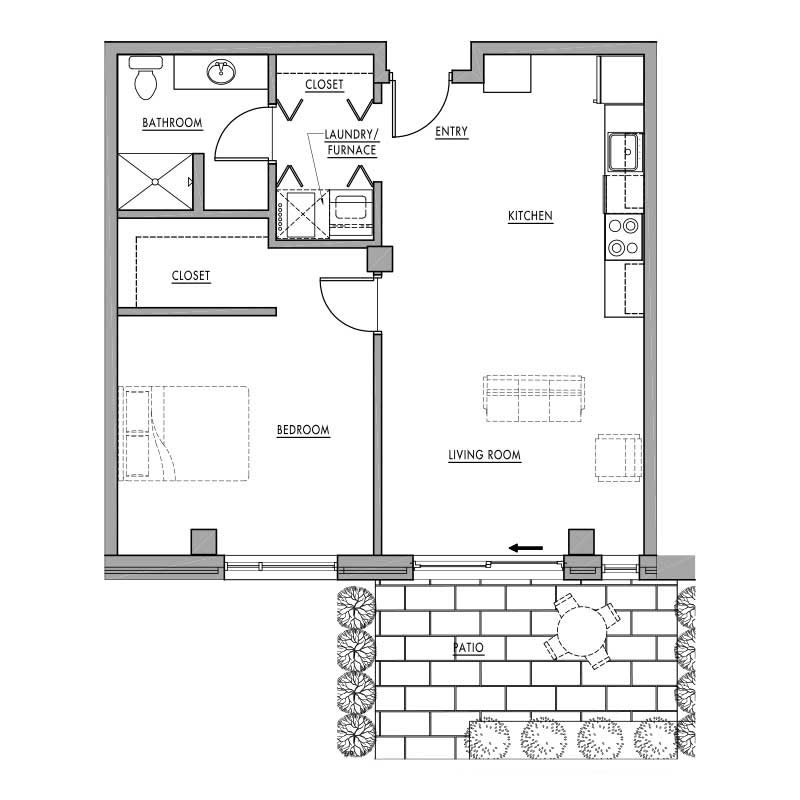 Floor plan d1 dwell bay for Dwell floor plans