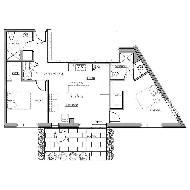 Floor plan o dwell bay for Dwell floor plans